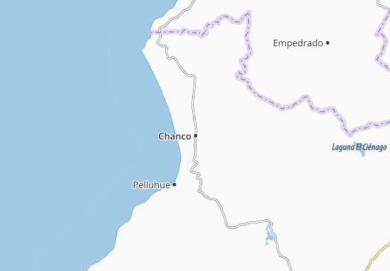 Kaart Plattegrond Chanco