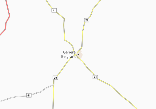 Carte-Plan General Belgrano