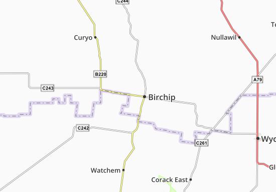 Mapa Plano Birchip