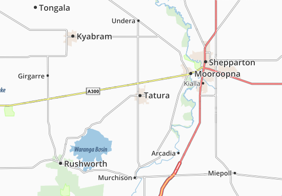 Kaart Plattegrond Tatura