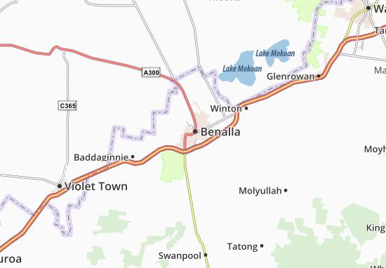 Kaart Plattegrond Benalla