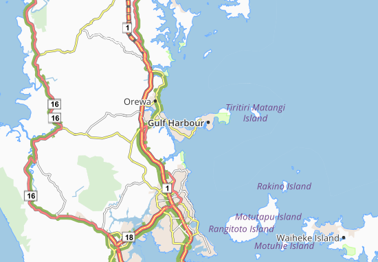 Mappe-Piantine Whangaparaoa