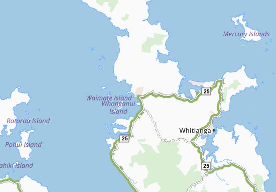 Kaart Plattegrond Coromandel