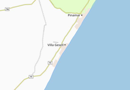 Kaart Plattegrond Villa Gesell