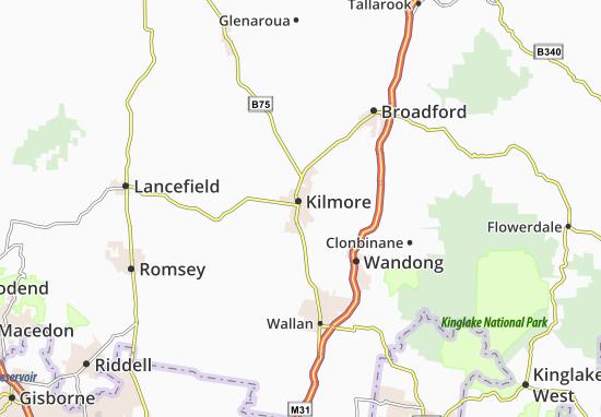 Mapa Kilmore