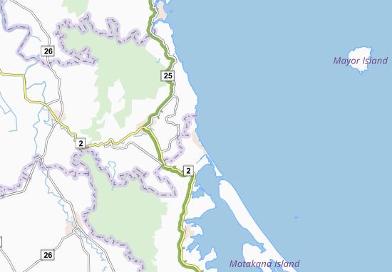 Kaart Plattegrond Waihi Beach