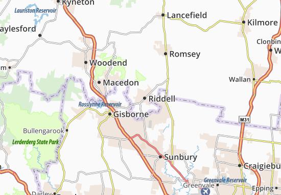 Kaart Plattegrond Riddell