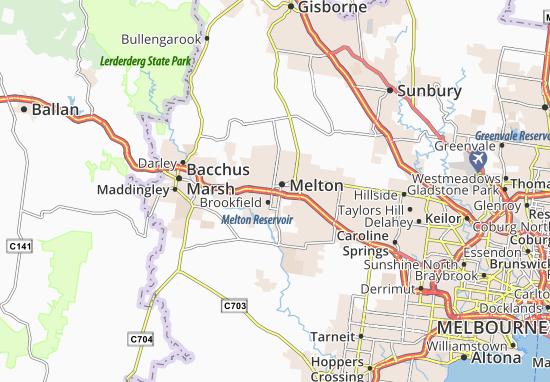 Kaart Plattegrond Melton