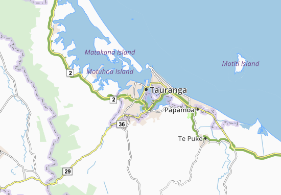 Mapas-Planos Tauranga