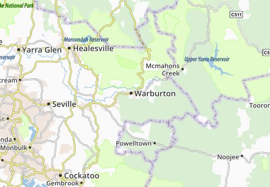 Warburton Map