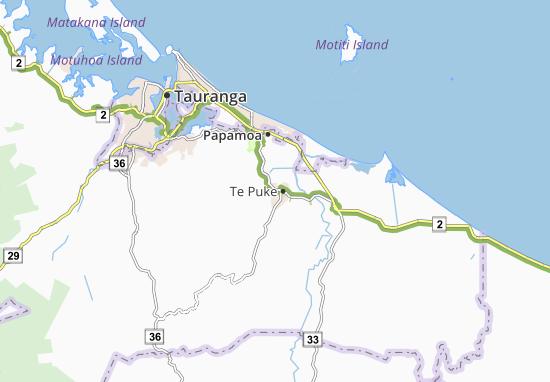 Te Puke Map