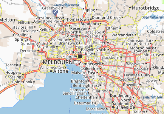 Map of Melbourne Michelin Melbourne map ViaMichelin – Melbourne Tourist Attractions Map