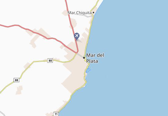 Kaart Plattegrond Mar del Plata