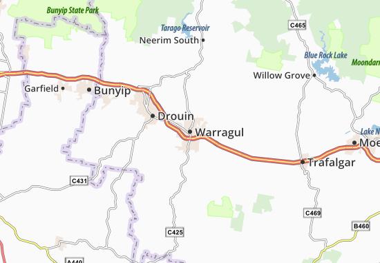 Warragul Map