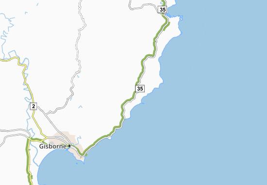 Kaart Plattegrond Whangara