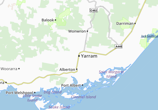Yarram Map