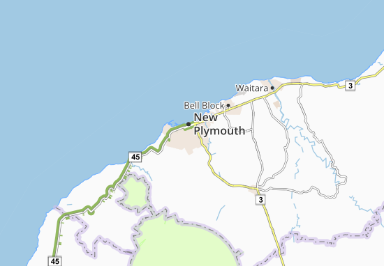 New Plymouth Map: Detailed maps for the city of New Plymouth ...