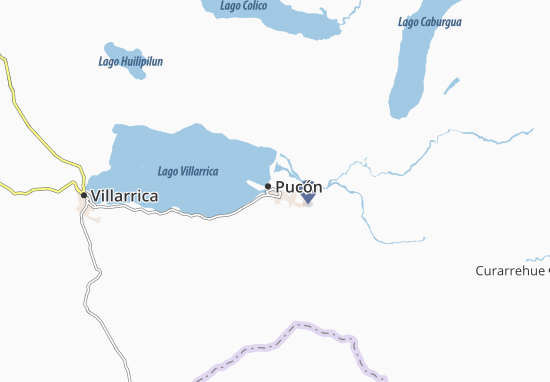 Pucón Map