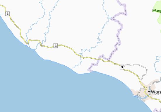 Kaart Plattegrond Waitotara