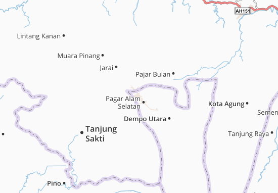 Carte-Plan Pagar Alam Utara