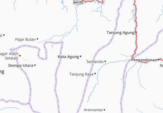 Kota Agung Map