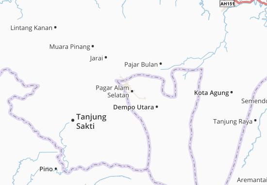 Pagar Alam Selatan Map