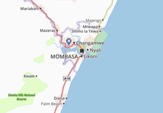 Kaart Plattegrond Likoni