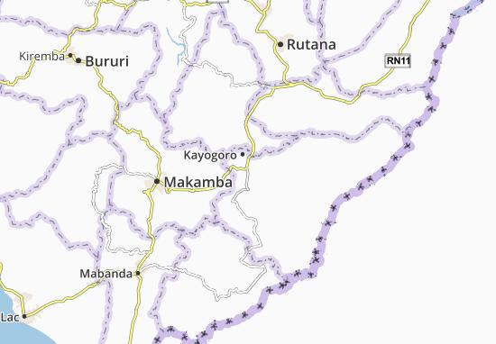 Kaart Plattegrond Nyabutare