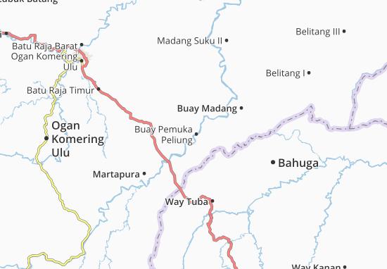 Buay Pemuka Peliung Map