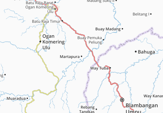 Martapura Map