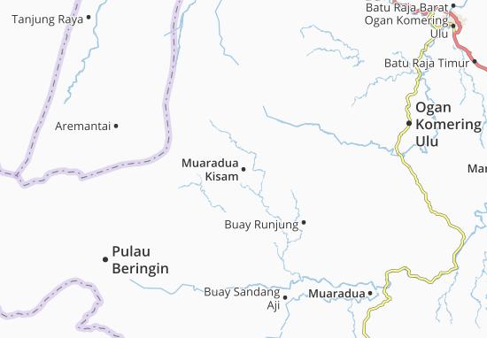Muaradua Kisam Map