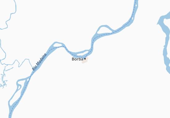 Kaart Plattegrond Borba