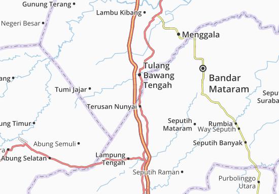 Terusan Nunyai Map