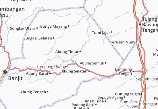 Carte-Plan Abung Timur