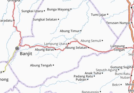 Carte-Plan Kotabumi Selatan