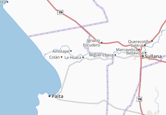 Kaart Plattegrond La Huaca