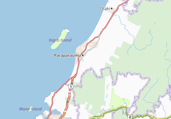 Carte-Plan Paraparaumu