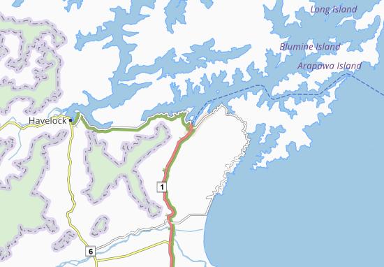 Kaart Plattegrond Picton
