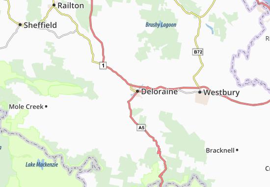 Deloraine Map