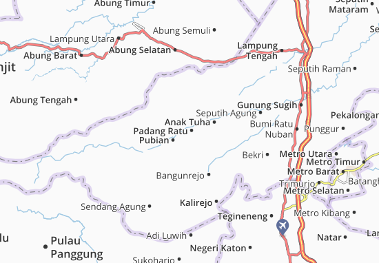 Carte-Plan Padang Ratu