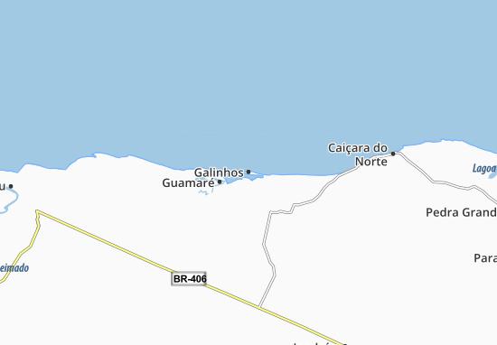 Galinhos Map