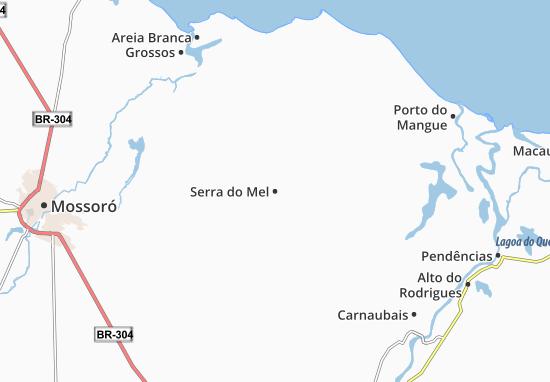 Kaart Plattegrond Serra do Mel