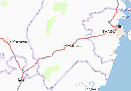 Muheza Map