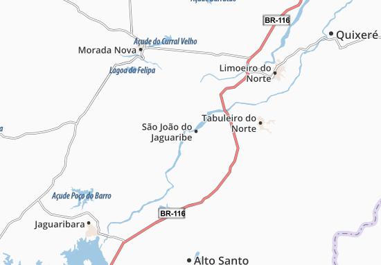 Kaart Plattegrond São João do Jaguaribe