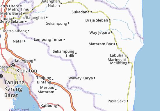 Sekampung Udik Map