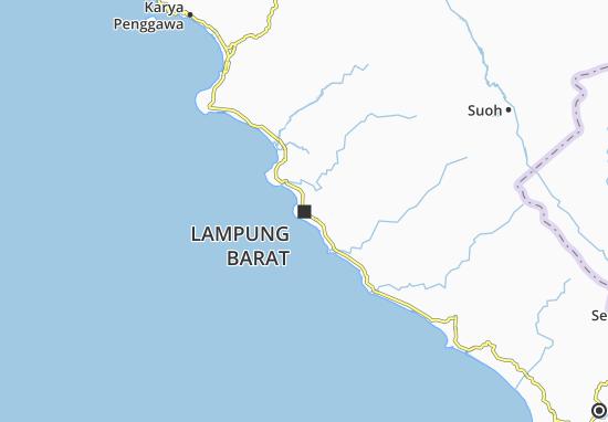 Lampung Barat Map