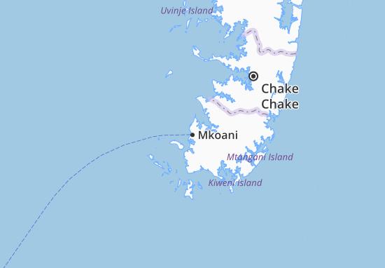 Mkoani Map