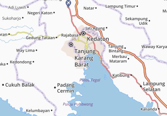 Teluk Betung Barat Map