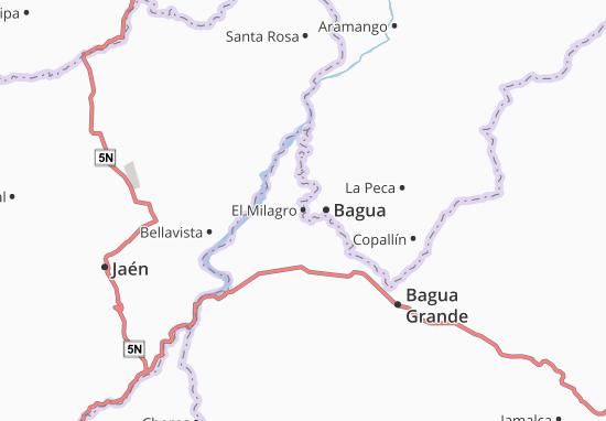 Kaart Plattegrond El Milagro