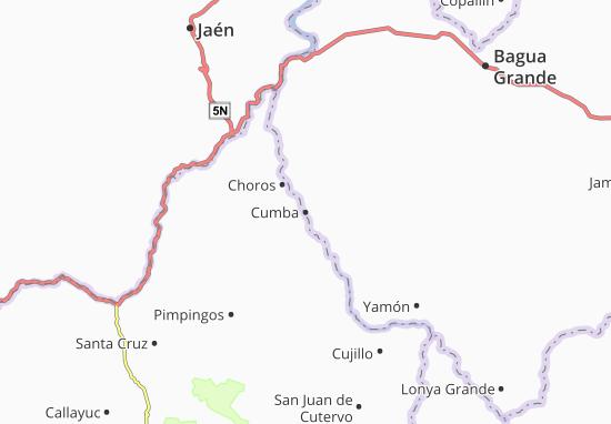 Kaart Plattegrond Cumba